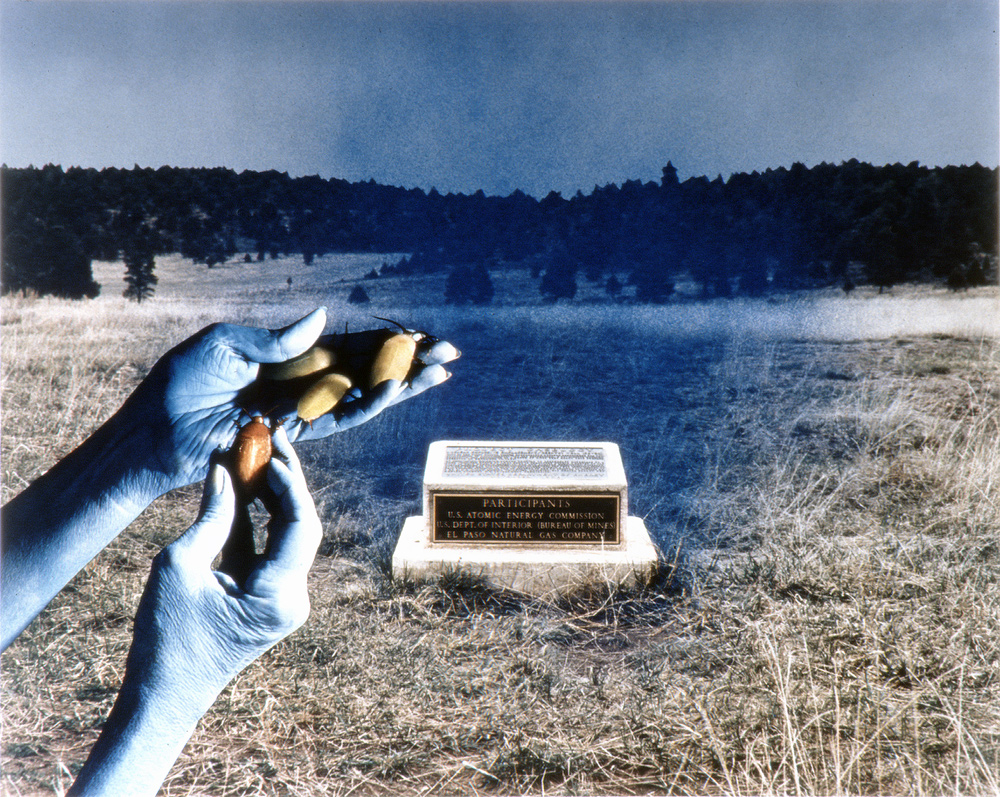 Plaque, Ground Zero, 'Project Gasbuggy' (Dec. 10, 1967), Carson National Forest, New Mexico, 1990, Chromogenic print (Ilfocolor Deluxe), 17 X 22