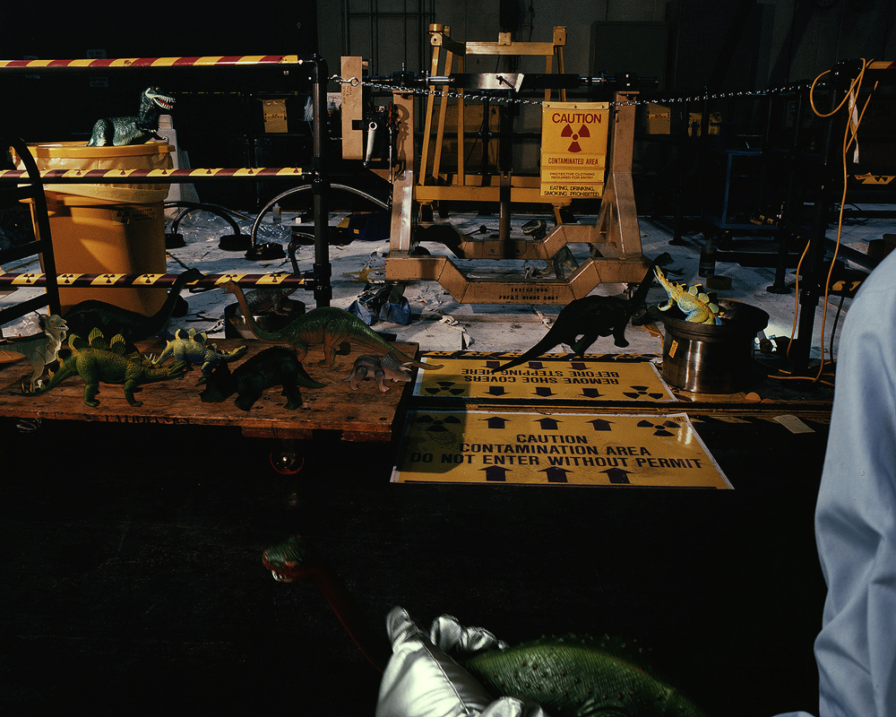 Contamination Area, Building #3, Sandia National Laboratories, Kirtland A.F.B., Albuquerque, New Mexico, 1989, Chromogenic print (Ilfocolor Deluxe), 17 X 22
