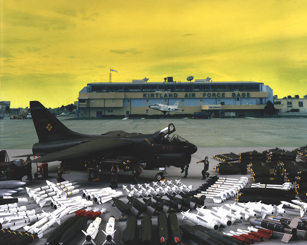 A7-D, 150th TAC Fighter Group, New Mexico Air National Guard, Kirtland Air Force Base, Albuquerque, New Mexico, 1989, Chromogenic print (Ilfocolor Deluxe), 17 X 22