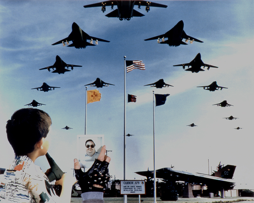 'Fat Man and Little Boy', F-111D's, 27th Tactical Fighter Wing, Cannon Air Force Base, near Clovis, New Mexico, 1990, Chromogenic print (Ilfocolor Deluxe), 17 X 22