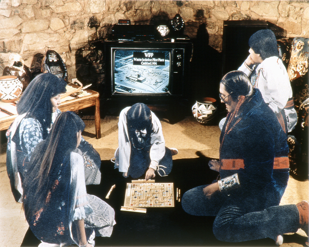 The Evening News, Native American Pueblo Dwelling, New Mexico, 1990, Chromogenic print (Ilfocolor Deluxe), 17 X 22