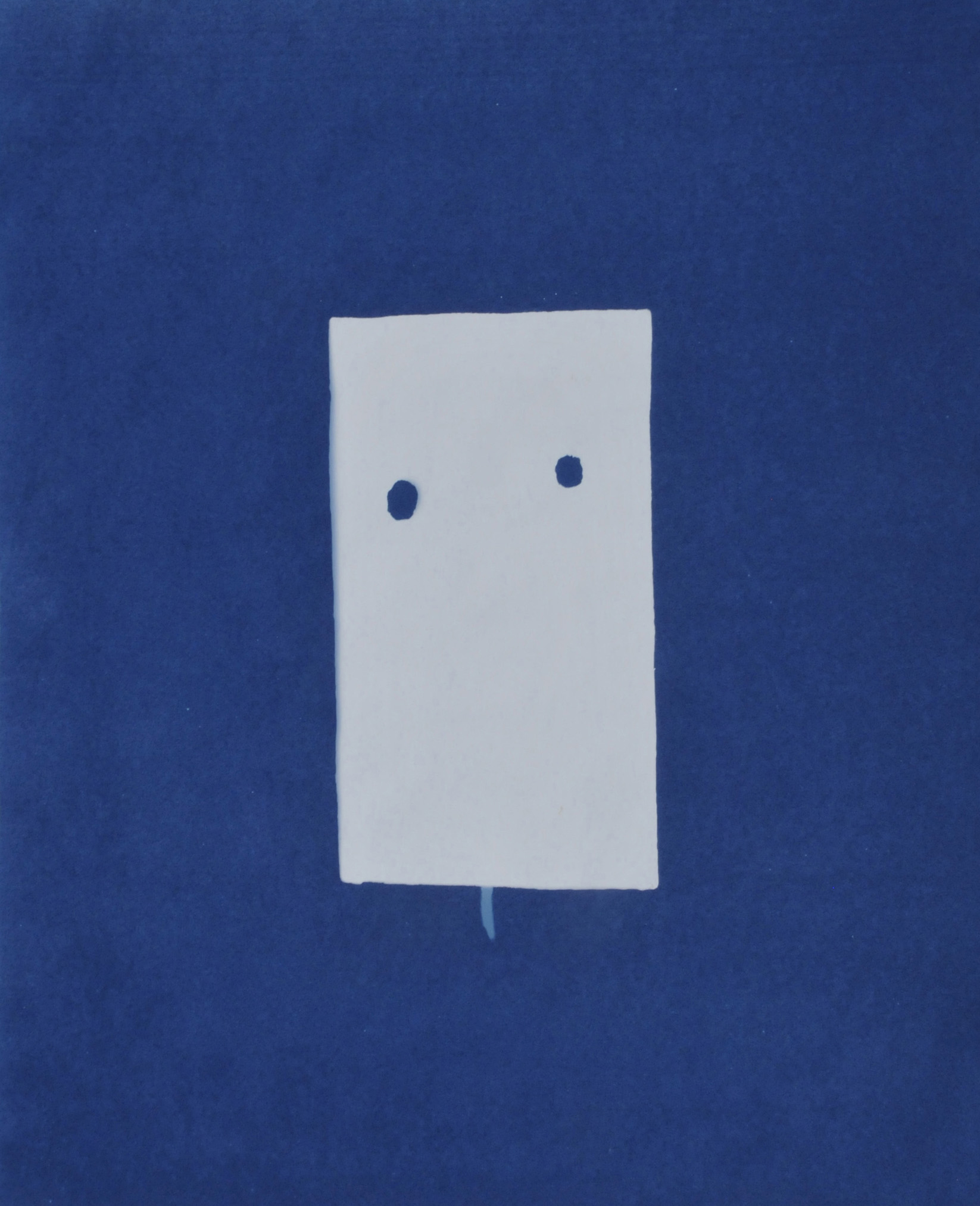Atomic Mask, cyanotype (sunprint) of a fragment of a steel beam from the A-Bomb Peace Dome, from the Hiroshima Peace Memorial Museum archives, Hiroshima, Japan, 2008