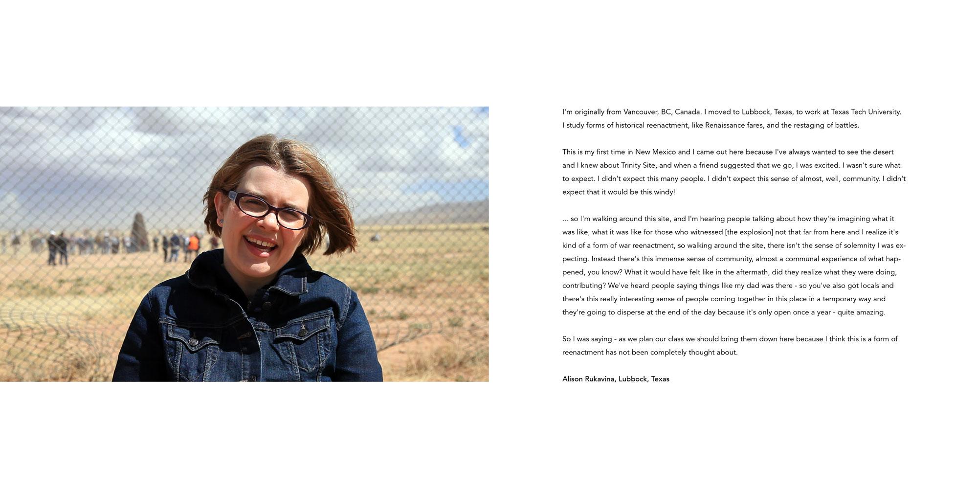 Atomic Tourist: Alison Rukavina