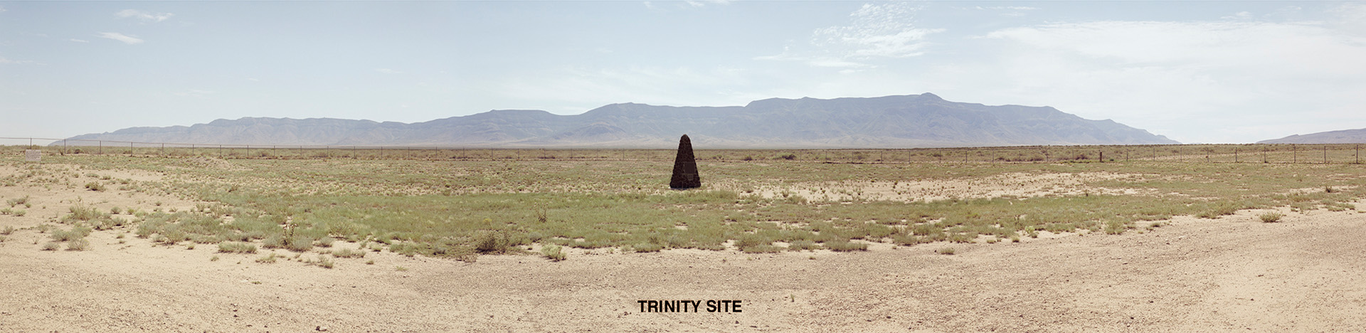 "This is the site of the world's first nuclear explosion.  It occurred on July 16, 1945, at 5:29:45 a.m. Mountain War Time on the Alamogordo Bombing and Gunnery Range of the White Sands Proving Ground in the Jornada del Muerto desert in New Mexico.  The 20 kiloton ""Trinity"" explosion was the birth of the Atomic Age."