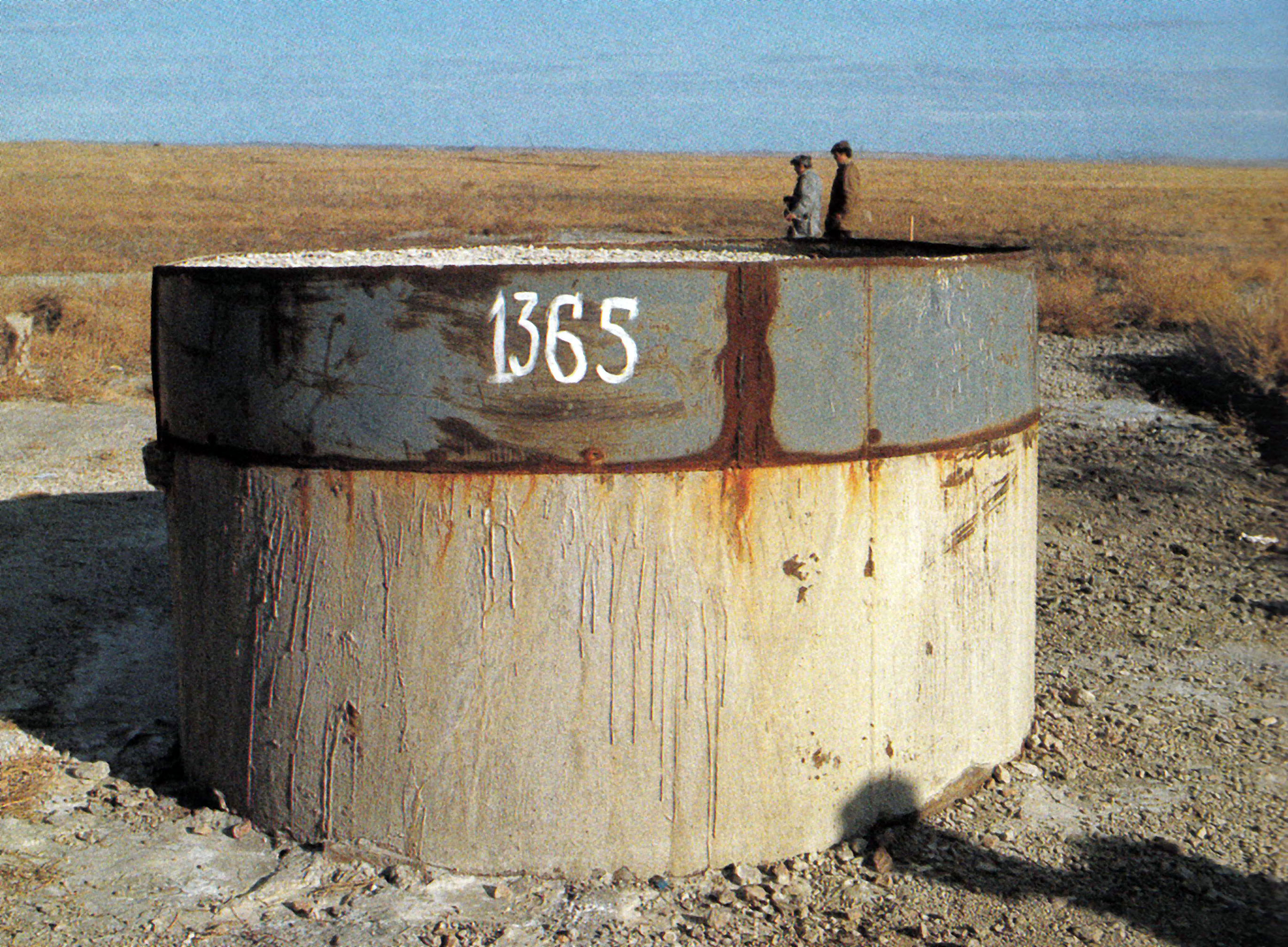The mark 1365 on the test site of the nuclear area is not just a number, but a historical landmark in the life of the testing area and its people.
