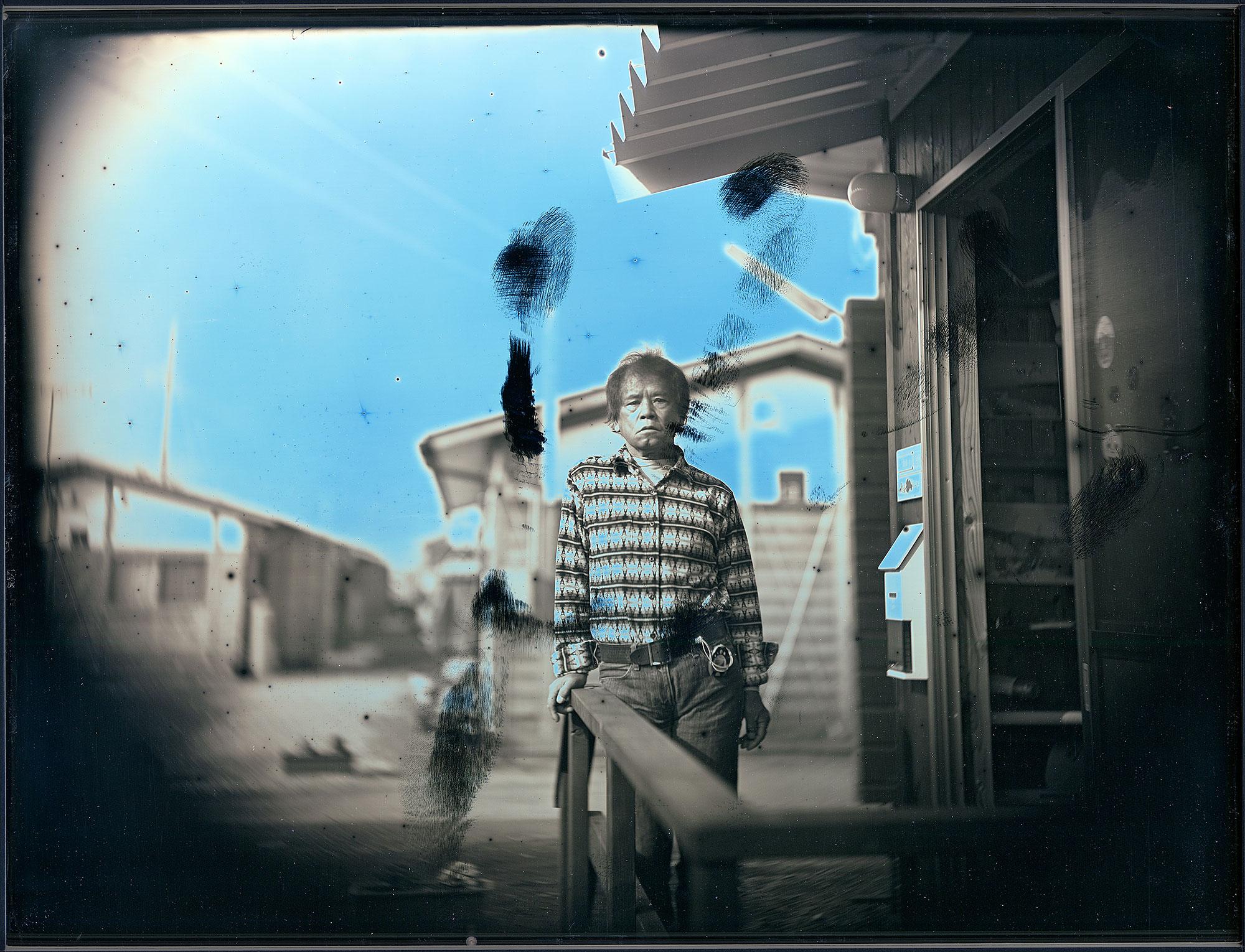 2012年1月19日、伊達市伏黒、仮設住宅、安斎徹 January 19, 2012. Toru Anzai at his Temporary Housing, Date