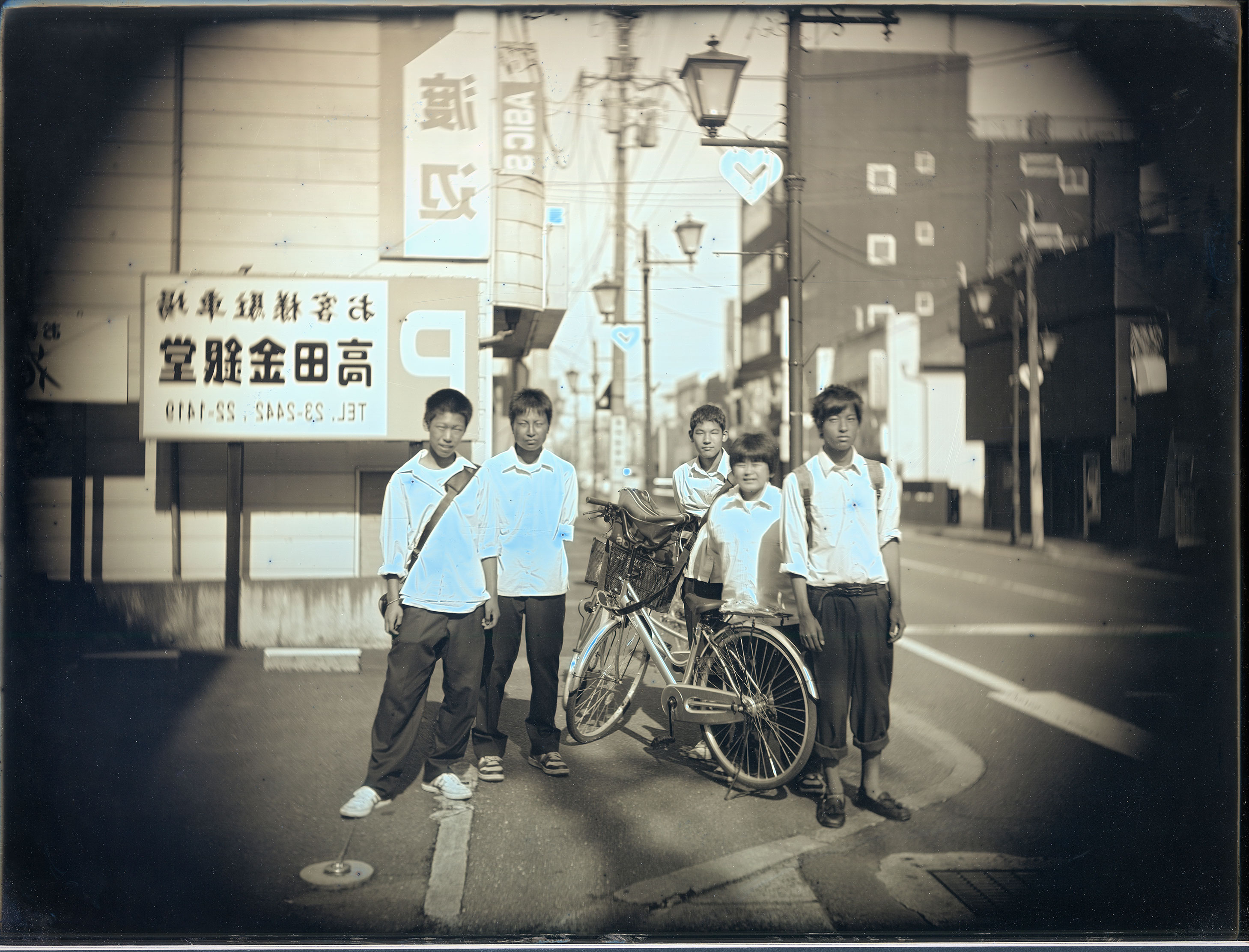 2012年6月26日、下校中の高校生、南相馬市原町 June 26, 2012. High school students on their way home, Haranomachi, Minamisoma