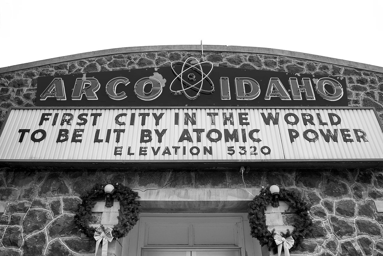 Arco Idaho: The first city in the world to be lit by atomic power, elevation 5320.