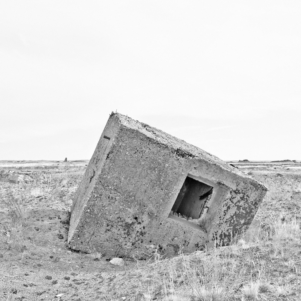 Opytnoe Pole. Semipalatinsk nuclear test site. Kazakhstan. 2012. Gelatin silver print; each 35 x 35 cm; framed 49 x 49 cm.